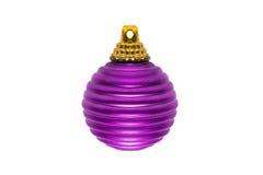 Purple christmas ball Royalty Free Stock Photos