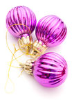 Purple Christmas balls Royalty Free Stock Photos