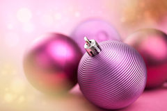 Purple christmas balls Royalty Free Stock Photo