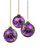 Purple Christmas balls Royalty Free Stock Photography