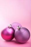 Purple christmas balls Stock Photography
