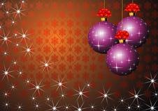 Purple Christmas Balls Royalty Free Stock Photos