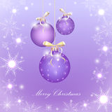 Purple  Christmas balls Stock Image