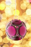 Purple Christmas Baubel Stock Photos