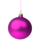 Purple Christmas bauble Stock Image