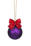 Purple christmas bauble Royalty Free Stock Photos