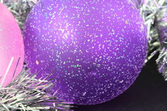 Purple Christmas bauble Royalty Free Stock Images