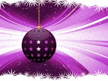 Purple Christmas bauble background Royalty Free Stock Images