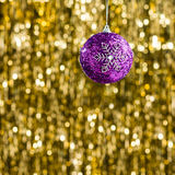 Purple christmas bauble Stock Photography
