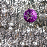 Purple christmas bauble Royalty Free Stock Photography