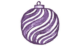 Purple christmas bulb Royalty Free Stock Photography