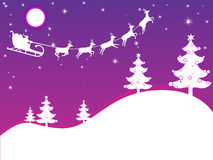 Purple christmas card Stock Photos