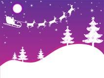 Purple christmas card Stock Photos