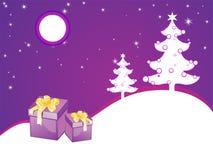Purple christmas card Stock Photo