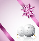 Purple Christmas card Stock Images