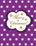 Purple Christmas card Stock Image