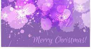 Purple Christmas card Royalty Free Stock Photography