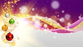 Purple Christmas card Stock Photography