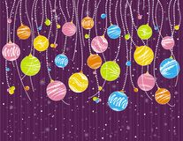Purple christmas card, vector Royalty Free Stock Photography