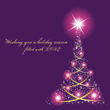 Purple christmas card Stock Photography