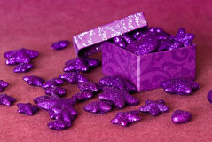 Purple christmas decoration Royalty Free Stock Photography