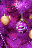 Purple Christmas decoration Stock Images