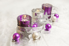 Purple Christmas decoration Stock Photography