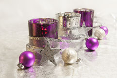 Purple Christmas decoration Royalty Free Stock Photos