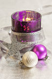Purple Christmas decoration Royalty Free Stock Images