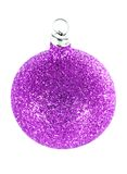 Purple Christmas decorations Stock Image