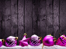Purple Christmas decorations Royalty Free Stock Images