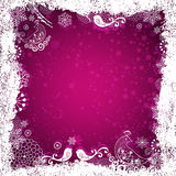 Purple christmas frame Stock Photography