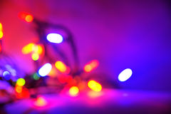 Purple Christmas light background Royalty Free Stock Photos