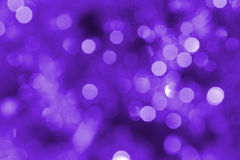 Purple christmas lights Stock Photo