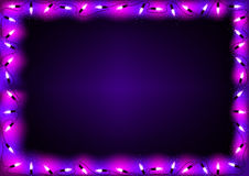 Purple Christmas Lights Background Royalty Free Stock Photo