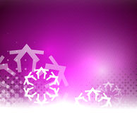 Purple Christmas lights and snowflakes Royalty Free Stock Photo