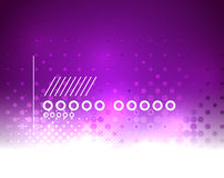Purple Christmas lights and snowflakes Stock Photos