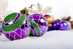 Purple Christmas Ornament Stock Photography