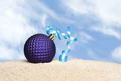 Purple Christmas Ornament Stock Photo