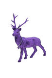 Purple christmas reindeer Stock Images