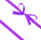 Purple christmas ribbon Stock Photography