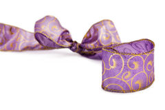 Purple christmas ribbon Royalty Free Stock Photography