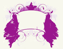 Purple Christmas Shield Royalty Free Stock Photography