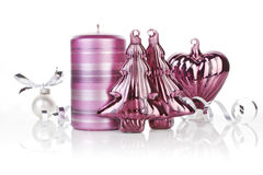Purple christmas still life. Royalty Free Stock Images