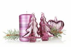 Purple Christmas Still Life. Stock Photos