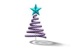 Purple christmas tree spiral design Stock Photo