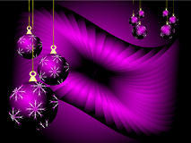Purple Christmas Vector Background Stock Image