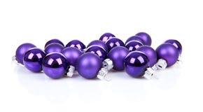 Purple Chrsimas balls Royalty Free Stock Photography