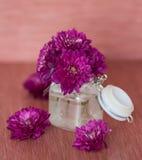 Purple chrysanthemums. In the vase Royalty Free Stock Photo