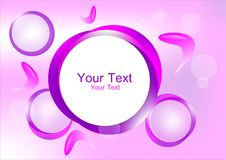 Purple circle frame Stock Photography